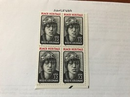 USA United States Bessie Coleman block  mnh 1995  #3     stamps - $2.70