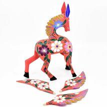 Handmade Alebrijes Oaxacan Wood Carving Painted Folk Art Pegasus Large Figure image 8