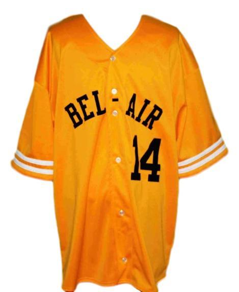 Will smith bel air academy baseball jerseybutton down yellow   1