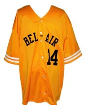 Will Smith Bel-Air Academy Baseball Jersey Button Down Yellow Any Size image 1
