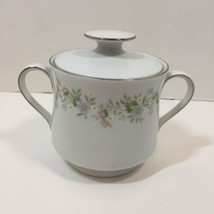 Sugar Bowl with Lid Forever Spring Johann Haviland Barvaria Germany - $9.74