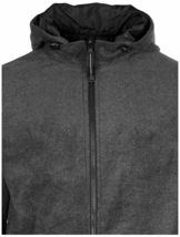 LAX Men's Premium Water Resistant Security Reversible Jacket With Removable Hood image 7