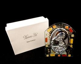 Glass Religious Icon, Murano Art Deco, Madonna w/Child, Christening Gift... - $8.77