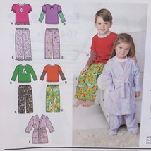 Simplicity Sewing Pattern 1573 Toddlers Child Robe Pants Knit Top Size 1... - $16.60