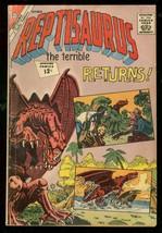 Reptisaurus The Terrible #7 1962-CHARLTON COMICS-TERROR Vg - $31.53