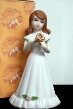 Vintage 1982 Growing Up Girls Figurine Age 9 Brunette Figurine E-9533 MIB  - $16.00
