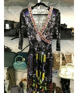 "CUSTO BARCELONA 3/4 Sleeve ""Yube Jewel"" Print Dress Style#3193622 Sz S $... - $85.04"