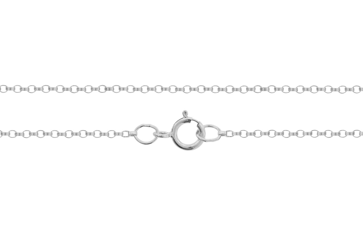 "Primary image for Chains, Rolo Chain with Spring Ring, Sterling Silver 1.2mm 20"", 5pcs (2747)/5"