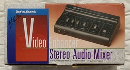 Vintage Radio Shack Video Enhancer Stereo Audio Mixer No. 15-1961 New In... - $19.23