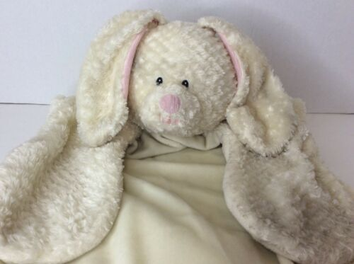 Primary image for Baby Gund Comfy Cozy Ivory Plush Bunny Rabbit Lovey Security Blanket Mat 36130