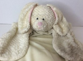 Baby Gund Comfy Cozy Ivory Plush Bunny Rabbit Lovey Security Blanket Mat... - $31.67
