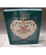 LENOX Victorian Valentine Heart with Doves Pierced Ornament in Box  - $16.00