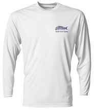 6 Personalized Custom Printed Dri Fit Longsleeve SPF Fishing Tee Sun Shirts  image 5