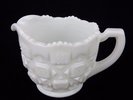"Vintage Westmoreland Cream Pitcher, Old Quilt Design, 3.5"" x 4"" Milk Glass  - $12.69"