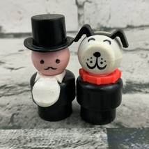 Vintage Fisher Price Little People Replacement Western Town Mayor & Dog - $15.84