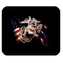 Mouse Pads USMC Eagle Flag Logo United States Marine Corps Animation Mousepads - $6.00
