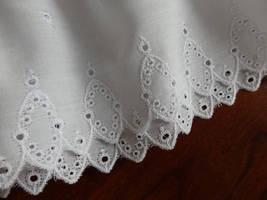 Half Slips, Slip Extenders, Slips,White Eyelet Slips, Eyelet edged skirt, White  image 2