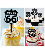 Ca412 Decorations cupcake toppers route 66 Package : 10 pcs - $10.00