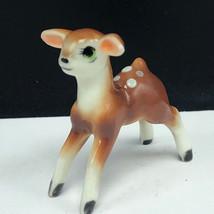 BONE CHINA DEER FIGURINE MINIATURE vintage elk bambi doe buck hagen rena... - $23.76