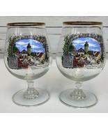 SET OF 2 German American Wander Club Nurnberg 1988 0.4L Tulip Beer Glass... - $33.33