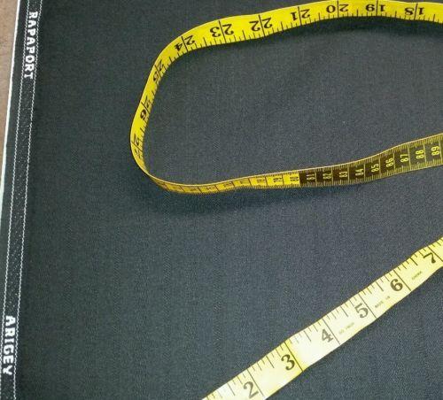 Italian Wool   Super 120'S wool Suit Fabric 6 Yards Black  MSRP $1499