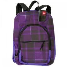 Aka Sport Purple Plaid Pocket Backpack OT056 - $67.36 CAD