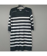 Studio One Stripe Sweater Dress XL 3/4 Sleeve Textured Knit Lightweight ... - $23.97