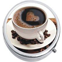 Coffee Beans Love Medicine Vitamin Compact Pill Box - $9.78