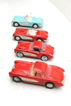 4 Vintage  Chevrolet Corvette Convertible Diecast 1/40 Scale Franklin Mi... - $32.71