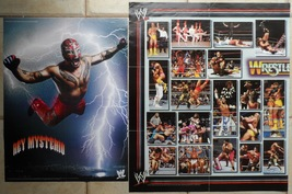WWE WWF 2 Posters 2005 Rey Mysterio 24*20 Inch World Wrestling Colour Co... - $24.50