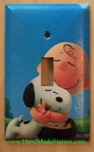 Peanuts Snoopy Charlie Brown Hug Light Switch Power wall Cover Plate Home decor