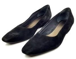 EASY SPIRIT Women's Shoes MASSEYT size 9.5M Black Suede Wedges Toe Slides - $23.12