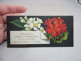 Vtg Victorian Trade Card. Geo. P. Thresher Fine Shoes. Boston, MA - $4.99