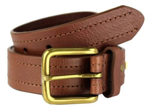 NEW LEVI'S MEN'S STYLISH CLASSIC PREMIUM GENUINE LEATHER BELT BROWN 11LV3253