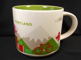 Starbucks You are Here coffee mug PORTLAND YAH 2016 green interior 14 oz - $17.90