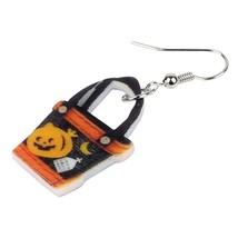 Acrylic Happy Halloween Pumpkin Handbag Earrings Drop Dangle Trendy Gift Jewelry - $6.73