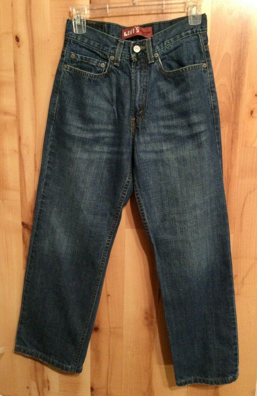 Primary image for Levi's Boys Size 12 Reg (26x26 1/2) Loose Straight 569 Jeans