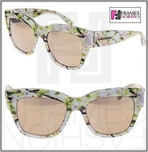DOLCE & GABBANA Almond Flowers 4231 White Gold Mirrored Sunglasses DG4231 - $236.61