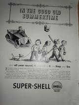 Super Shell Good Old Summertime Comic Print Magazine Ad 1937 - $9.99