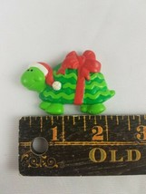 Hallmark Christmas Refrigerator Magnet Green Turtle with Red Bow image 2