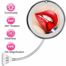 10X Magnifying Makeup Mirror Vanity 360° Rotation With 3 Luminosity LED ... - $27.71