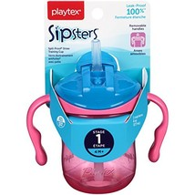 Playtex Sipsters Stage 1 Spill-Proof, Leak-Proof, Break-Proof Straw Sipp... - $9.49