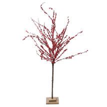 "50"" Festive Red Berries Artificial Christmas Tree Decoration - Unlit - tkcc - $65.95"