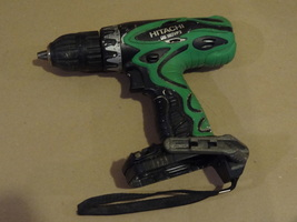 Hitachi Cordless Drill Ds 18DVF3 18 Volt Used Condition Works Well Bare Tool - $27.99