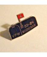 VFW Michigan Lapel Pin - 1983 Vintage Veterans Of Foreign Wars Wayne Cou... - $19.79