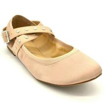 Charles by Charles David Womens Dean Ballet Flats Sz 9.5M Nude Faux Sati... - $20.02