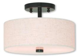 Livex Lighting 52133-92 Meridian 2 Light English Bronze Ceiling Mount - $65.29