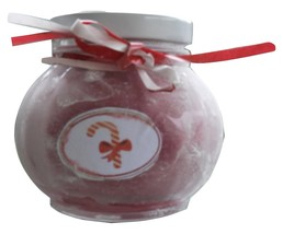 Candy Cane Snowglobe Candle - $13.00