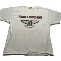 Harley Davidson Men's Size 2XL Corpus Christi Double Sided T Shirt White - $24.94