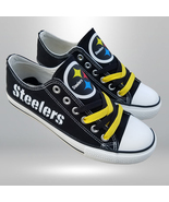 Steelers shoes womens sneakers men fashion steelers tennis shoes pittsbu... - $59.99+